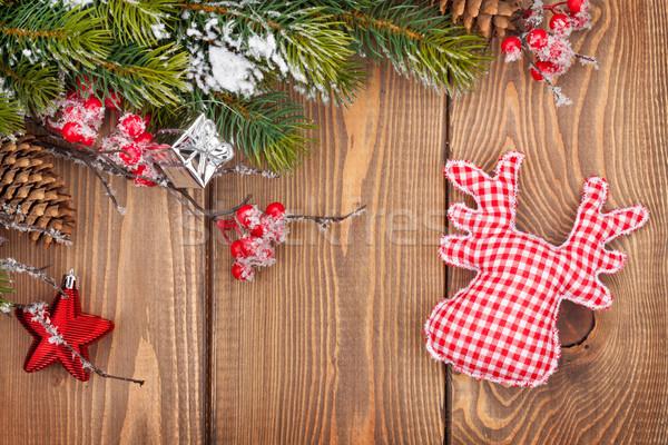 Noël bois neige texture Photo stock © karandaev