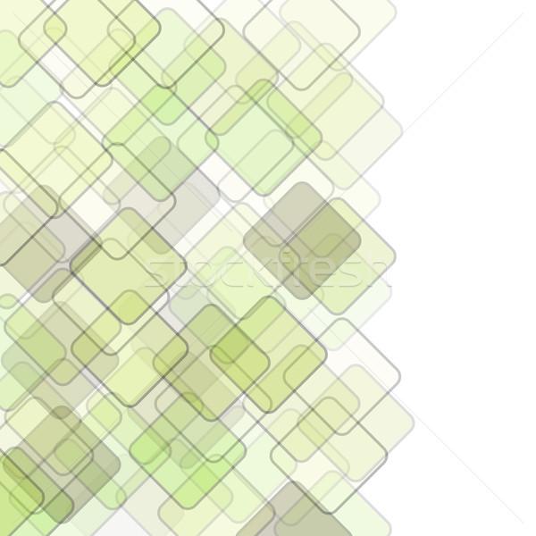 Soyut kare geometrik renkli mozaik bo Stok fotoğraf © karandaev