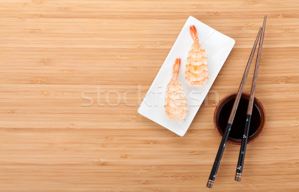 Stock photo: Shrimp sushi