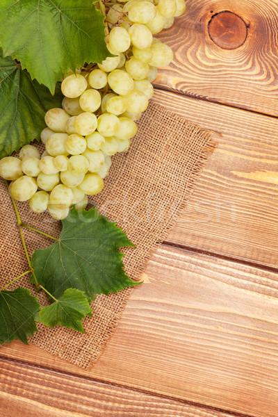 белый виноград деревянный стол копия пространства вино Сток-фото © karandaev