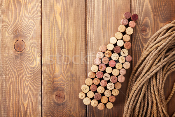 Wine bottle shaped corks Stock photo © karandaev