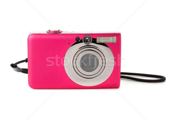 Zwarty kamery odizolowany biały tle cyfrowe Zdjęcia stock © karandaev