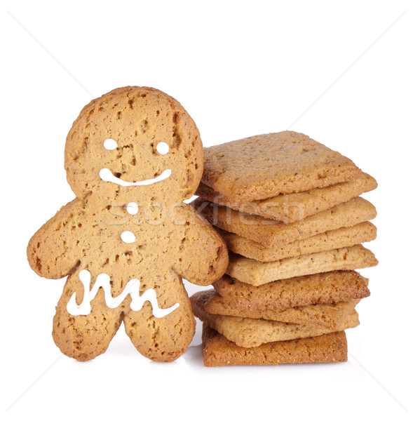 Gingerbread man cookie Stock photo © karandaev