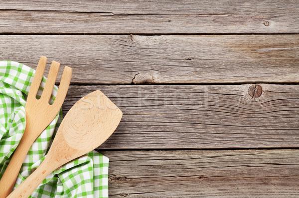 Сток-фото: приготовления · деревянный · стол · Top · мнение · копия · пространства