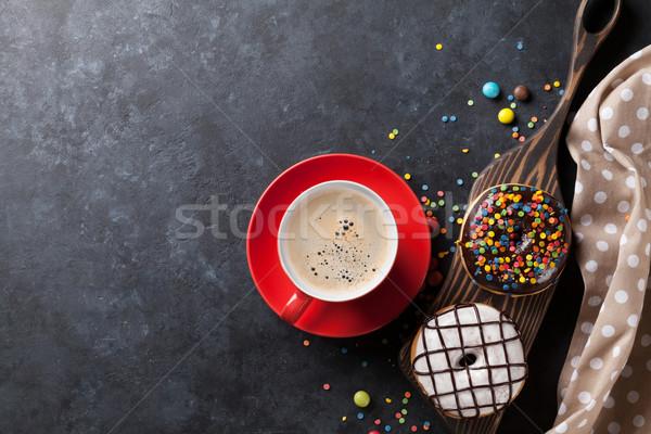 Caffè pietra tavola top view Foto d'archivio © karandaev