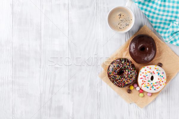 Donuts and coffee Stock photo © karandaev