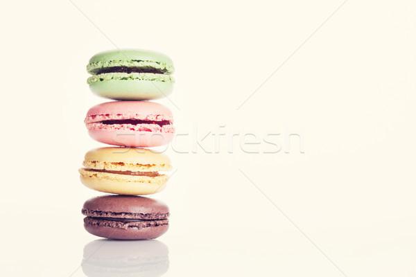Coloré sweet macarons couleur espace de copie alimentaire Photo stock © karandaev