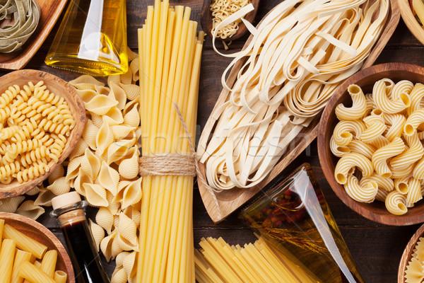 Foto stock: Macarrão · cozinhar · topo · ver · comida