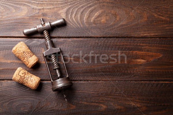 Vintage wine corkscrew Stock photo © karandaev