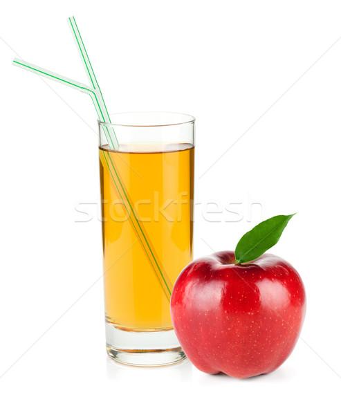 リンゴジュース ガラス 赤いリンゴ 孤立した 白 自然 ストックフォト © karandaev
