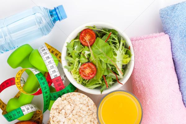 Fita métrica alimentação saudável toalhas fitness saúde esportes Foto stock © karandaev