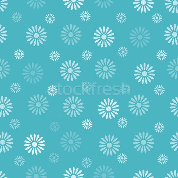 Bloem Blauw papier textuur voorjaar Stockfoto © karandaev