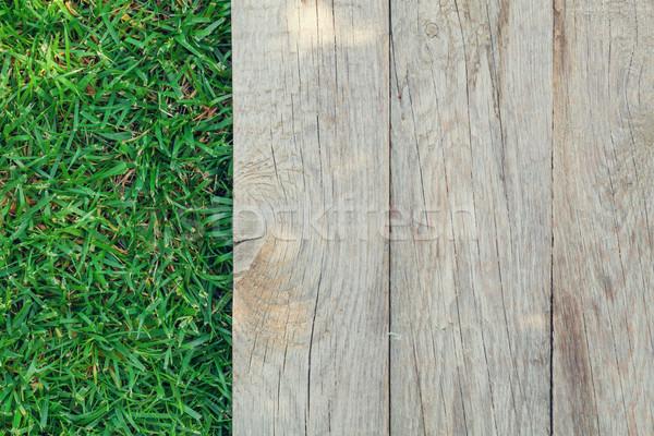 Hierba verde superior vista textura hierba Foto stock © karandaev