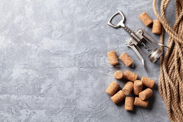 Wijn steen top exemplaar ruimte Stockfoto © karandaev