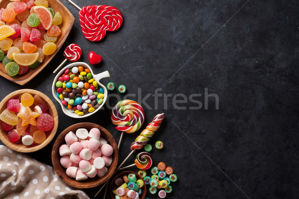 Colorful candies, jelly and marmalade Stock photo © karandaev