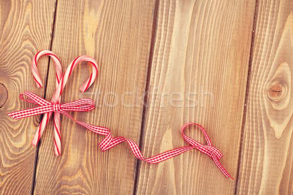 Candy cane with bow Stock photo © karandaev