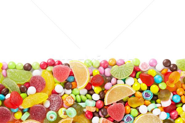 Színes cukorkák zselé izolált fehér copy space Stock fotó © karandaev