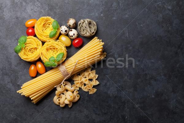 ストックフォト: パスタ · 料理 · 先頭 · 表示 · スペース
