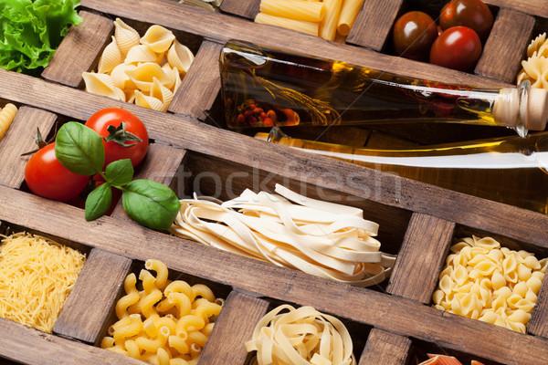 Foto stock: Macarrão · caixa · cozinhar · comida