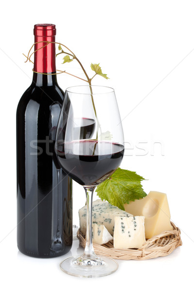 Red wine and cheese Stock photo © karandaev