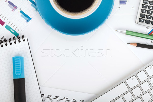 Copyspace on contemporary workplace Stock photo © karandaev