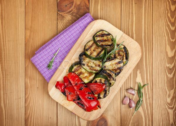 Grilled vegetables on cutting board Stock photo © karandaev