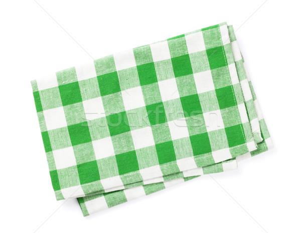 Stock fotó: Konyha · törölköző · izolált · fehér · zöld · szövet