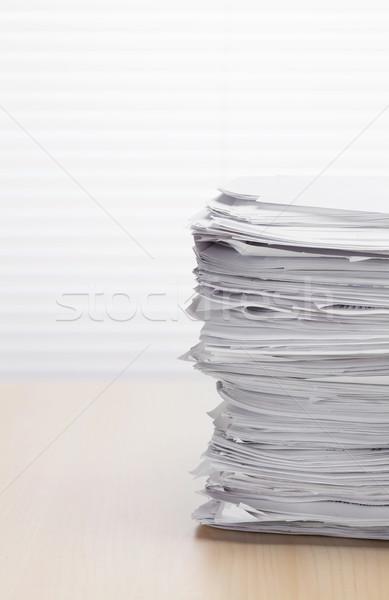 Stack of paper documents Stock photo © karandaev