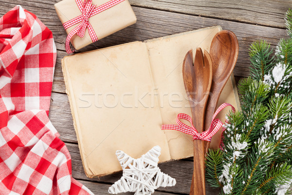 Cook book and utensils Stock photo © karandaev