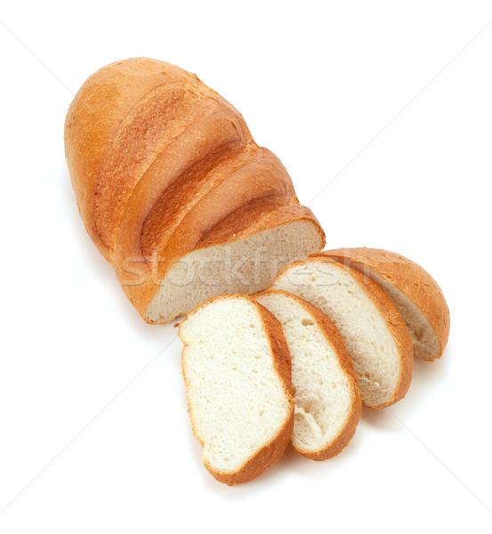 長い ローフ パン 孤立した 白 ストックフォト © karandaev