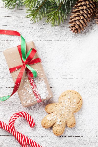 Foto stock: Navidad · regalo · dulces · caja · de · regalo