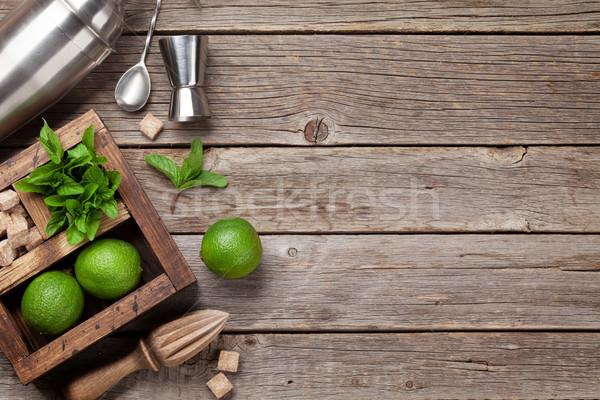 Mojito cocktail ingredients box Stock photo © karandaev