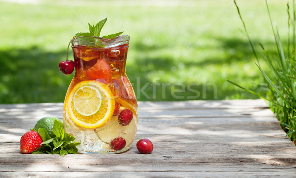 Homemade lemonade or sangria Stock photo © karandaev