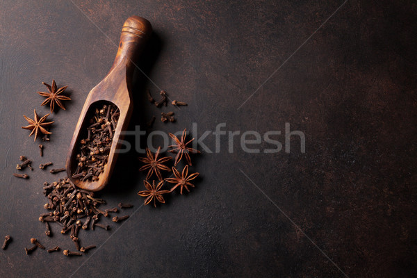 Mulled wine ingredients spices. Star anise and cardamom Stock photo © karandaev