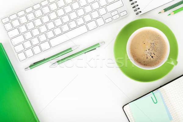 Tasse de café blanche affaires bureau Photo stock © karandaev
