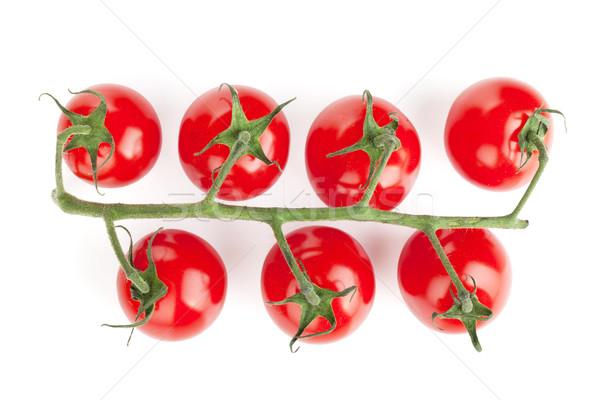 филиала помидоры черри изолированный белый фрукты фон Сток-фото © karandaev