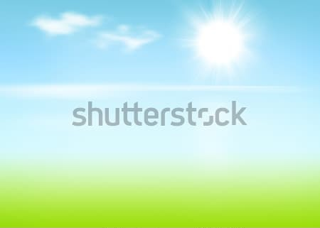 Beach and sea with sunny sky Stock photo © karandaev