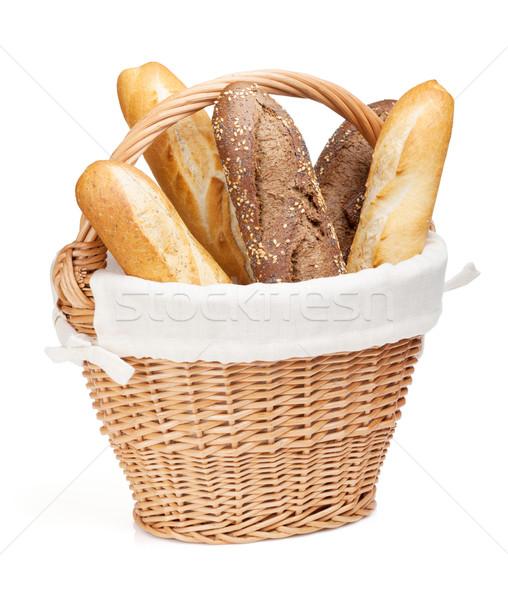 Various of french baguette basket Stock photo © karandaev