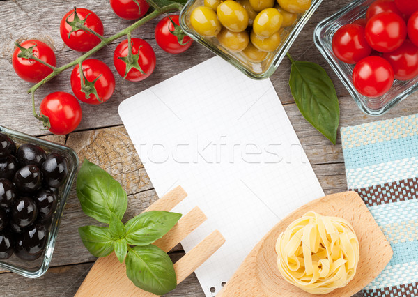 Blank notepad paper for your recipes and food Stock photo © karandaev
