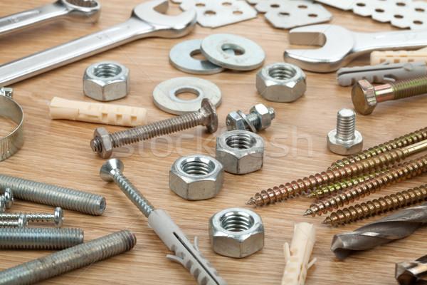 Nuts, screws and bolts Stock photo © karandaev