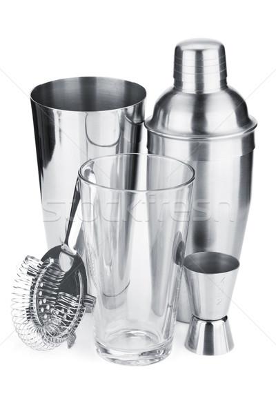Cocktail shakers, strainer and jigger Stock photo © karandaev