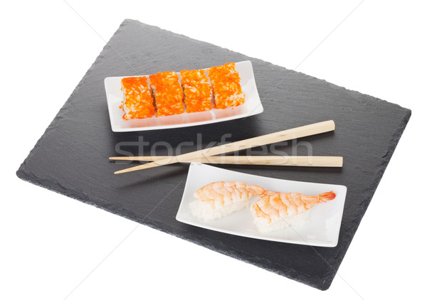 Sushi maki and shrimp sushi Stock photo © karandaev