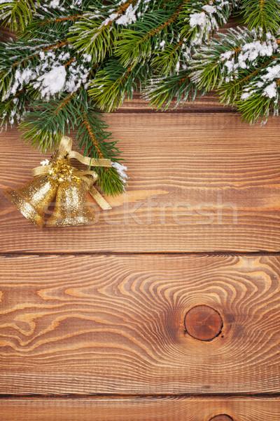 Noël neige vacances rustique Photo stock © karandaev
