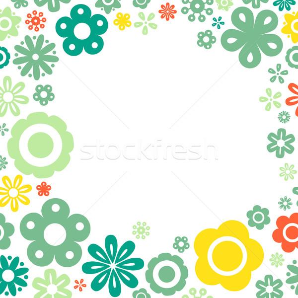 Różny kwiat ramki kopia przestrzeń kwiaty projektu Zdjęcia stock © karandaev