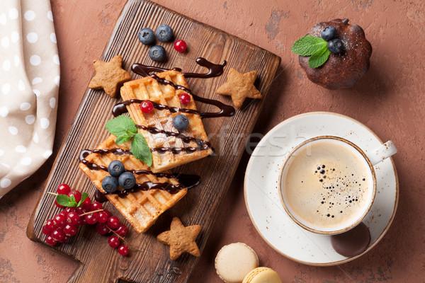 Café doces topo ver comida Foto stock © karandaev