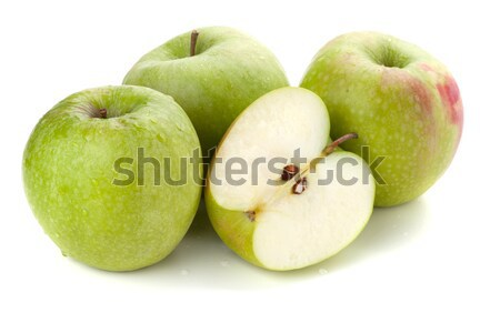 Three and half ripe apples Stock photo © karandaev