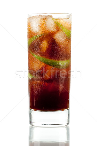 Cuba libre alcohol cocktail Stock photo © karandaev