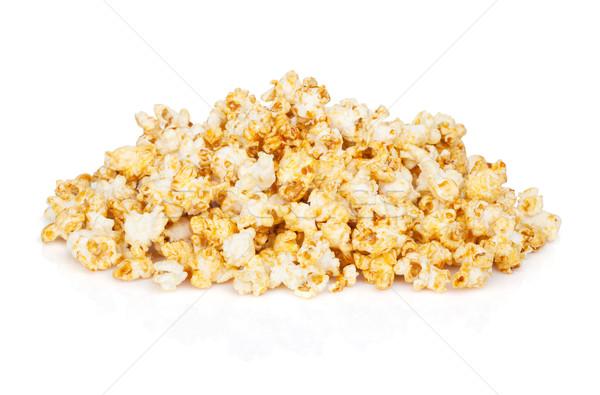 Popcorn hoop geïsoleerd witte textuur voedsel Stockfoto © karandaev