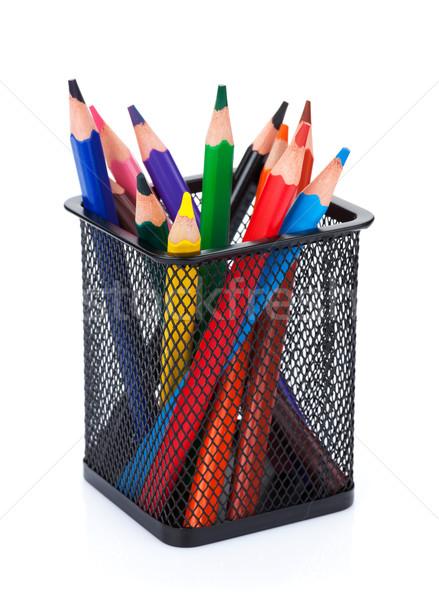 Stockfoto: Kleur · potloden · geïsoleerd · witte · school