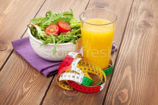 здорового Салат оранжевый стекла рулетка апельсиновый сок Сток-фото © karandaev